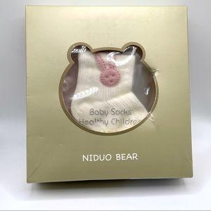 Niduo Bear 4 Pack Newborn Socks